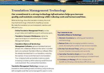 Translation Management Technology