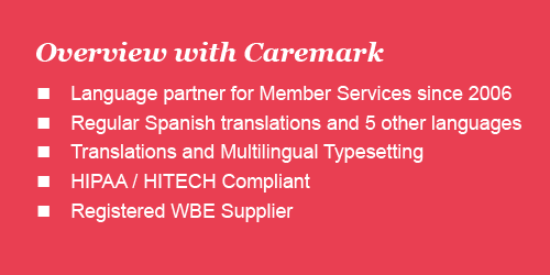 healthcare translation overview for CVS Caremark