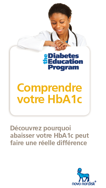 Novo Nordisk Healthcare translation highlighted in a diabetes promo ad in French