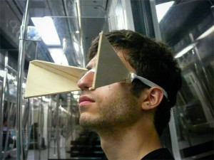 Man with blinders