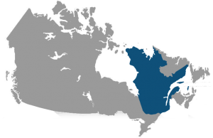 Map of Canada showing to illustrate Canada's Anti-Spam Legislation