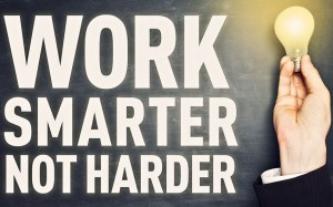 work smarter not harder client review