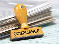 Compliance image showing stamp that reads compliance