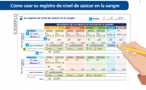 spanish translation of diary tracker as example of healthcare translations for diverse communities
