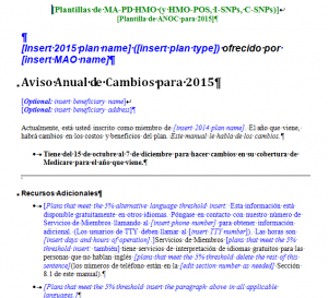 Model Document Spanish example