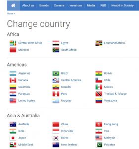 nestle language gateway website localization