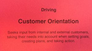 Competency Driving behavior - Customer Orientation