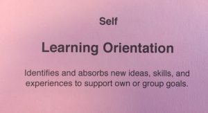 Competency modeling card of Self- Learning Orientation - for Strategic Leadership