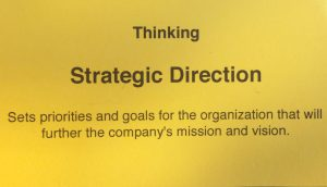 Competency of Thinking behavior for Strategic Direction