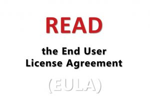 "Image of eula "" read me ""  that is part of the Font License"