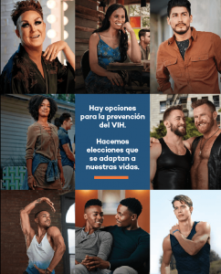 Advertising Image of Group of people with HIV for Hispanics with HIV awareness promotion
