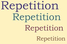 repetition of text