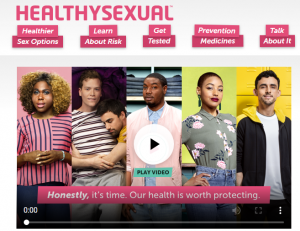 HealthySexual web page cover for decision to translate hashtags