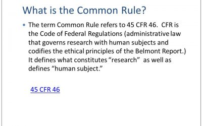 Revised Common Rule (45 CFR 46) incorporates health literacy principles