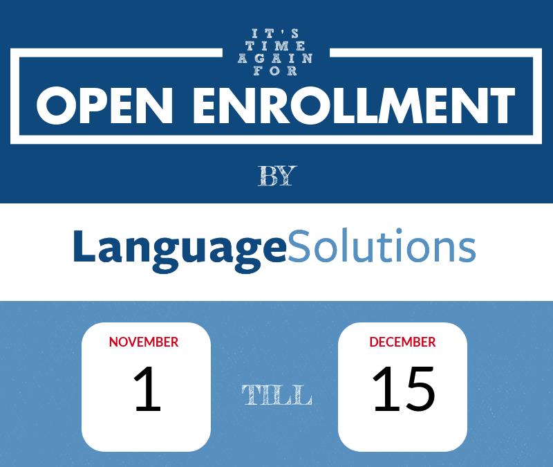 Translation of Open Enrollment 2019 Infographic