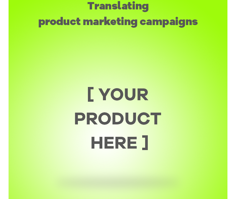 Product Marketing Translation Process