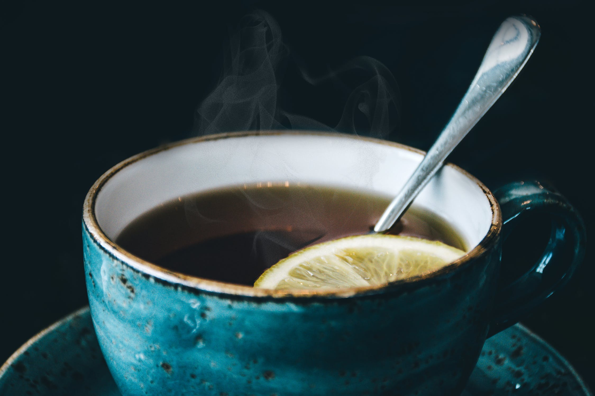 Image of tea with lemon.