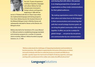 Language Solutions, Inc. brochure