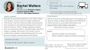 An example of a persona, Rachel Walters