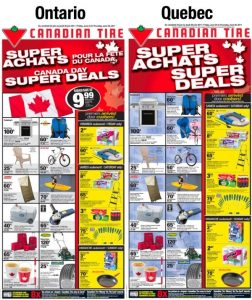 A bilingual Canadian Tire catalogue in French and English
