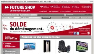 The French version of the Future Shop website as an example of French translation for advertising in Canada