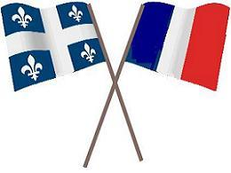 Flags of Québec and of France
