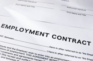 An employment contract